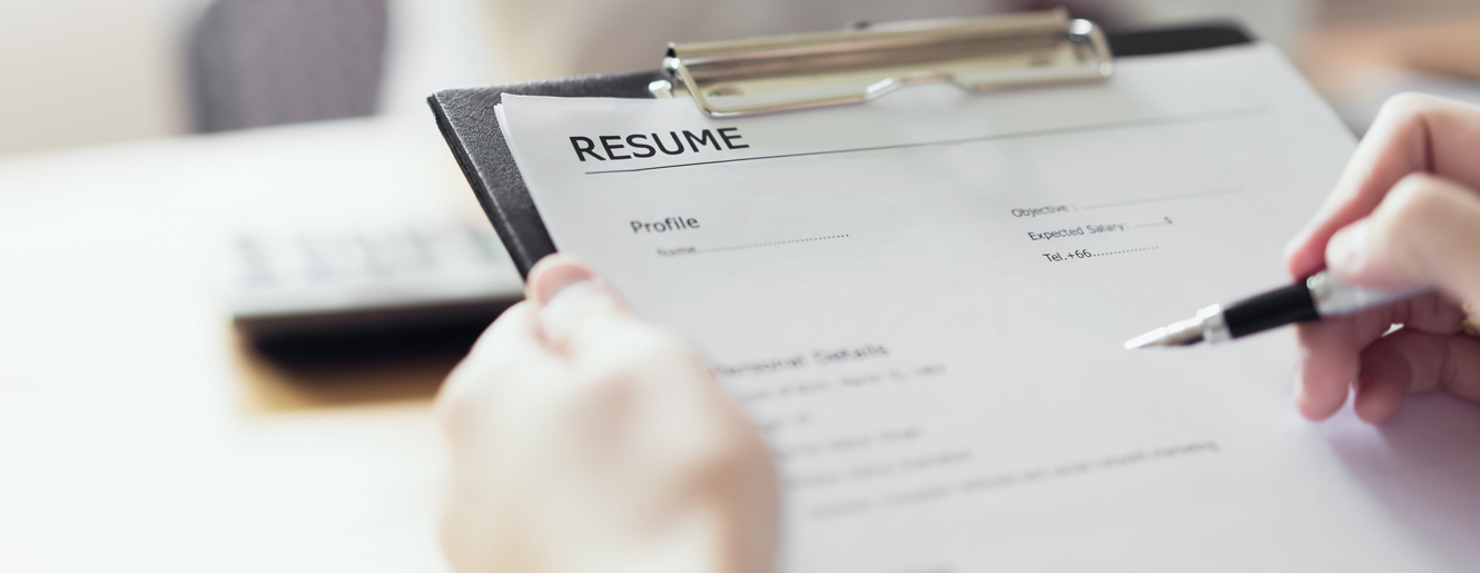 Clipboard with resume